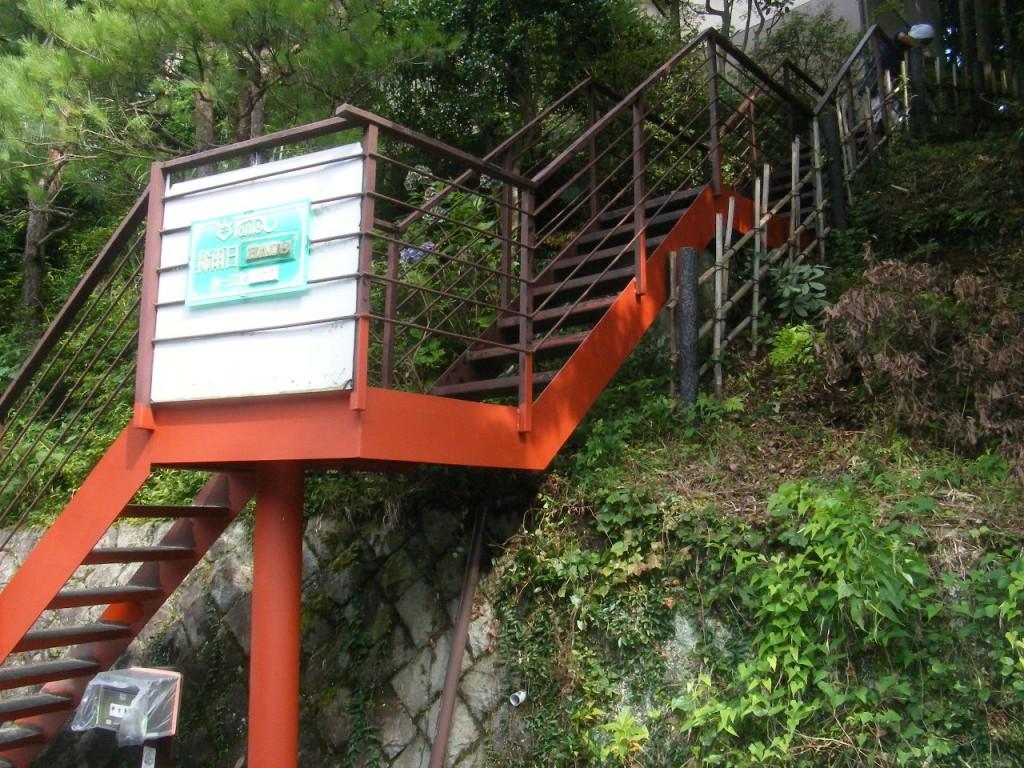 K邸鉄骨階段3