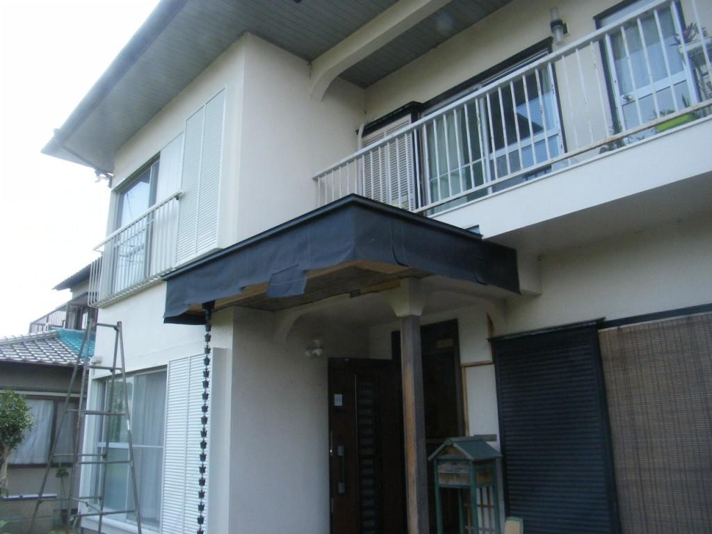 M邸玄関庇補修 (1)