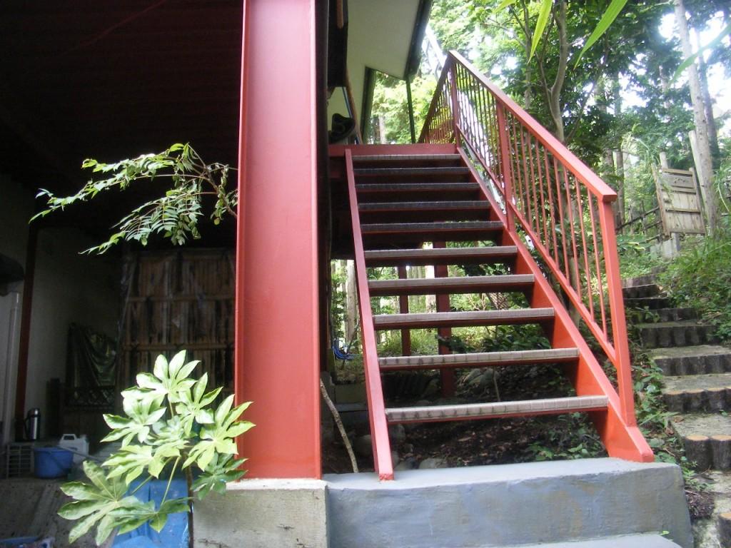 K邸鉄骨階段2