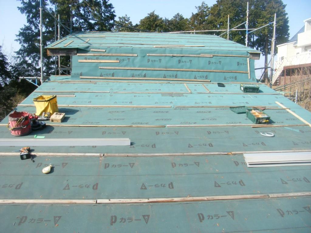 西野邸屋根替え (4)